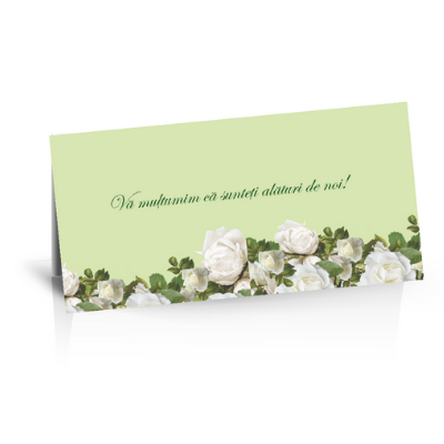 Plic de bani pentru nunta cu trandafiri albi 1