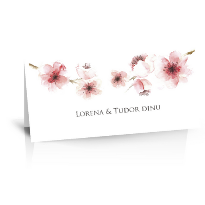 "Plic de bani pentru nunta ""Flori de cires"" 1"