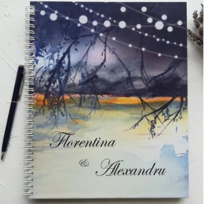 cartea mirilor cu peisaj pictat
