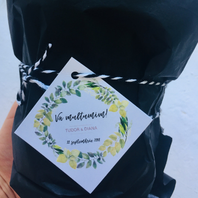 Etichete pentru mărturii nuntă cu frunze 1