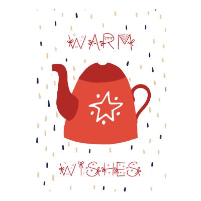 "Felicitare cu ceainic ""warm wishes"" 2002 1"
