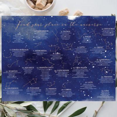 Așezare la mese pentru căsătorie cu constelații 1