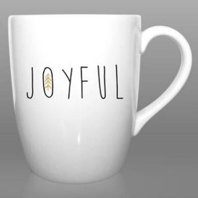 "Cană cadou din porțelan ""Joyfull"" 1"