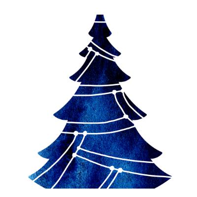 Felicitare de iarna cu bradut albastru 1315 1