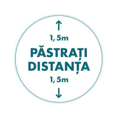 "Autocolant set 3 bucati cu mesaj ""Pastrati distanta"" 1"