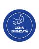 "Mini sticker cu mesaj ""Zona igienizata"" 3"