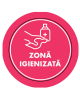 "Mini sticker cu mesaj ""Zona igienizata"" 5"