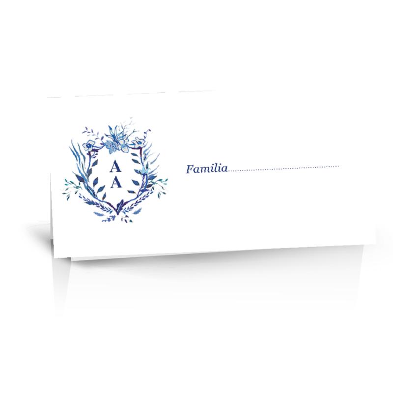 Plic de bani cu monograma albastra 1